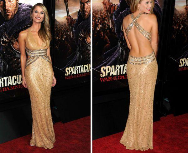 Золотое платье ампир фото