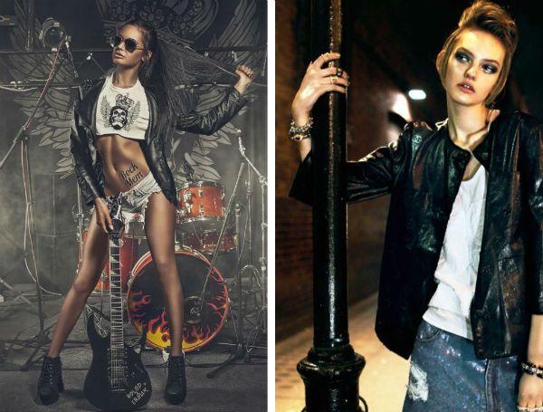 Образы в фотосессии в стиле рок фото