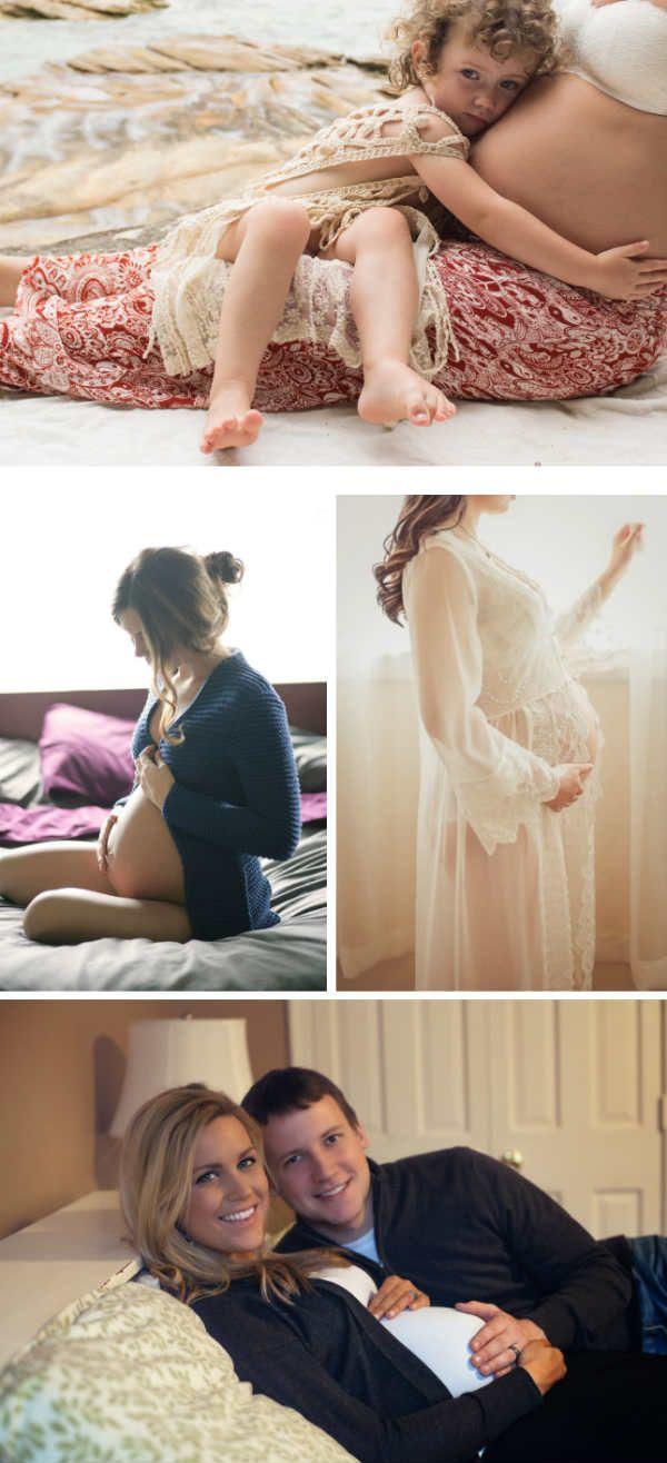 Фотосессия для беременных дома фото