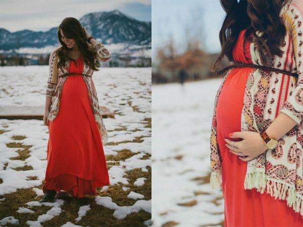 Фотосессия для беременных зимой фото