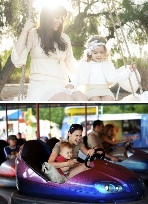 Фотосессия для беременных на атракционах фото