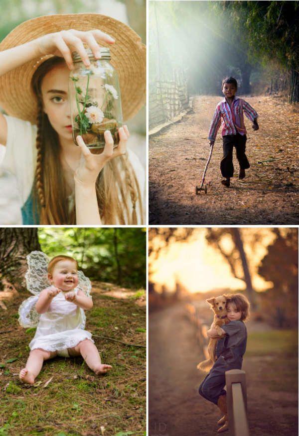 Фотосессия детей на природе фото