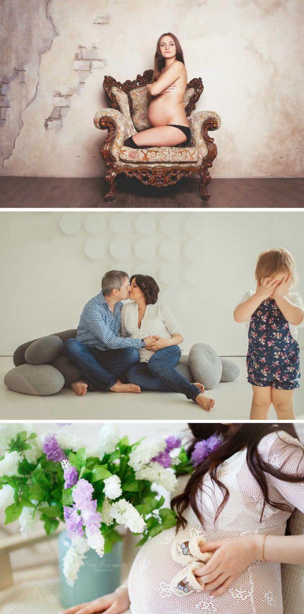 Идеи для фотосессии беременных в студии фото