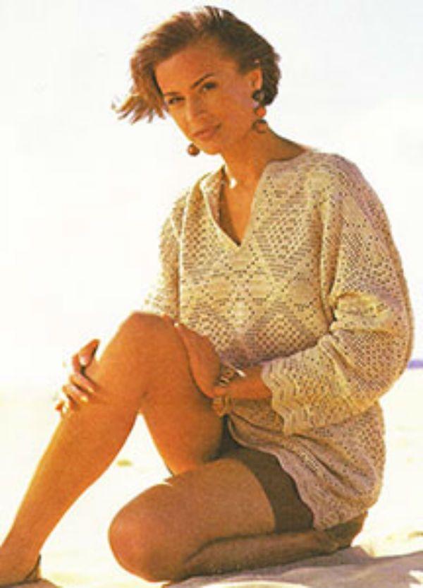 Вязаный пуловер фото