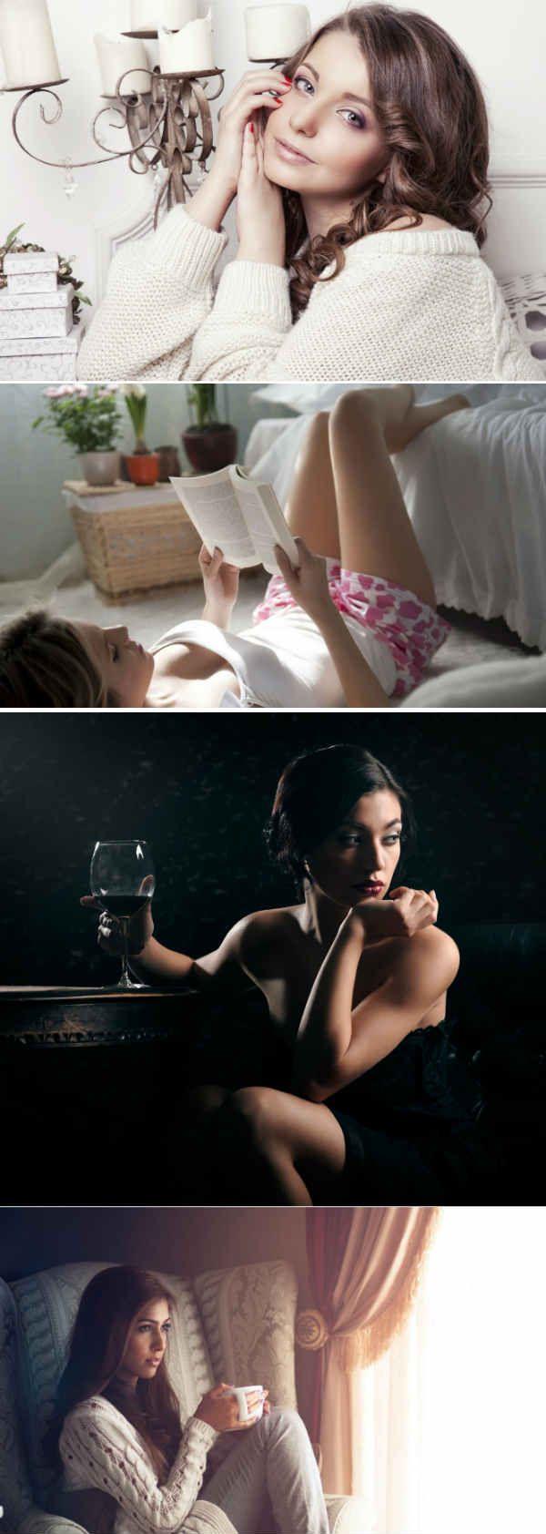 Романтическая фотосессия для девушки дома фото
