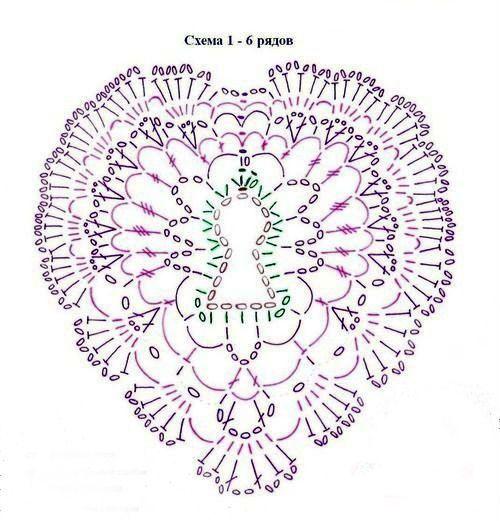 Схема узора сердце фото