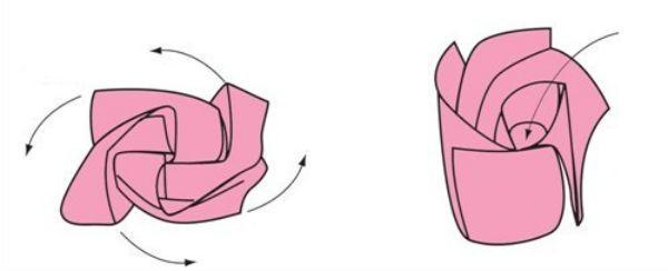 Формируем розу фото