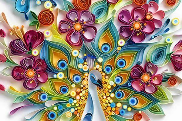 Квиллинг цветы фото
