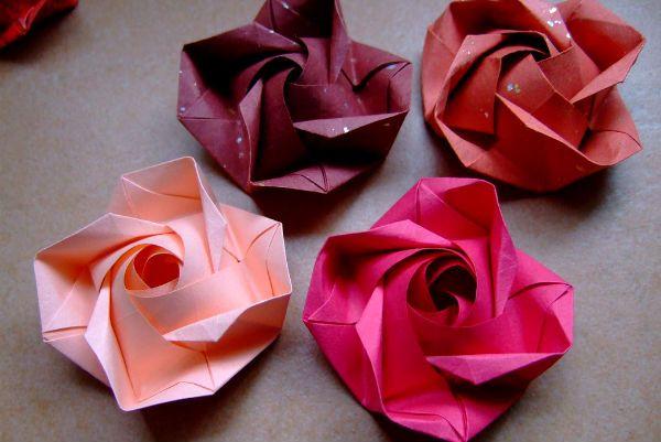Оригами роза фото