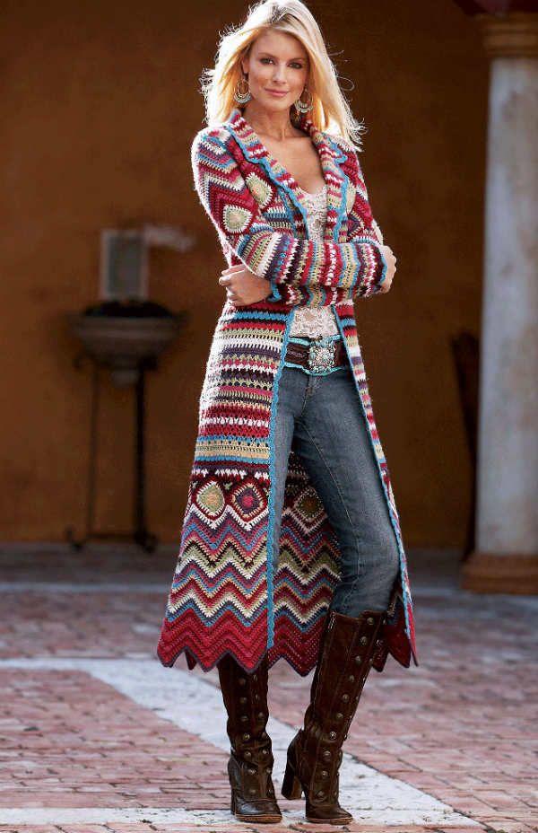 Пальто в этническом стиле фото