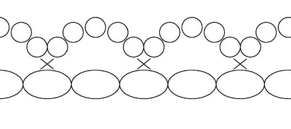 Схема узорного ряда фото