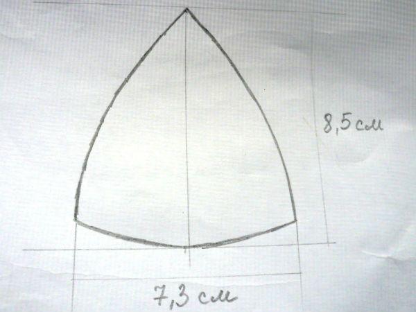Схема фрагментов шляпки фото