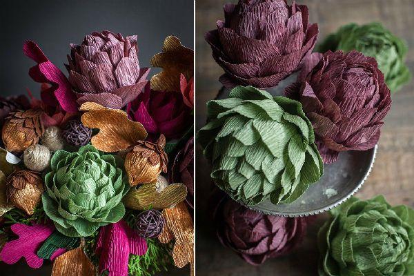 Составные цветы из бумаги фото