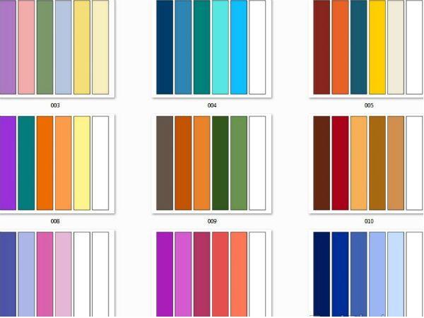 Варианты сочетания цветов фото