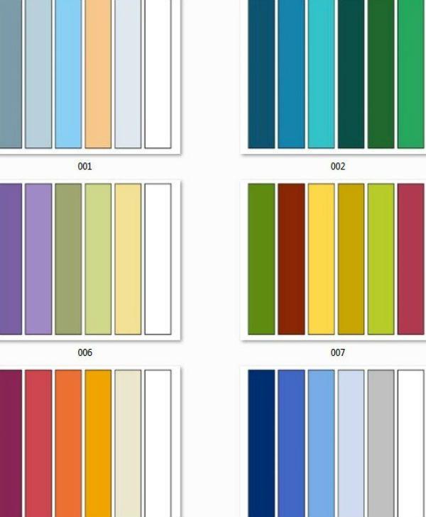 Таблица сочетания цветов фото