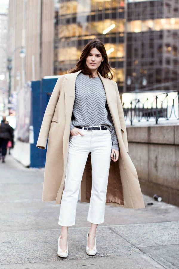 Женские белые джинсы фото