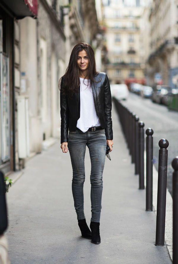 Женские серые джинсы фото