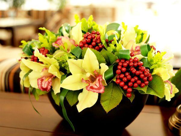 Цветы из керамики фото