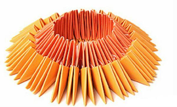 Делаем третий ряд из оранжевых моделей фото