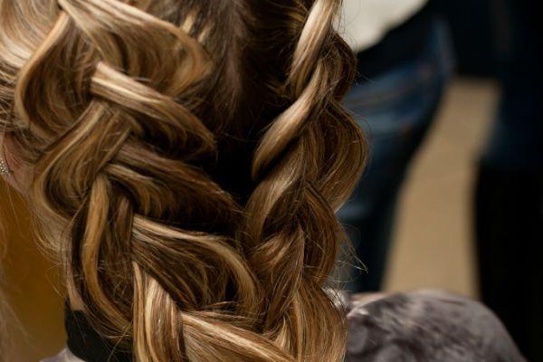Коса наоборот фото