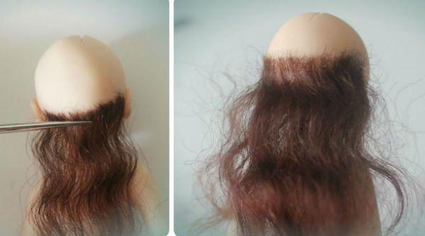 Клеим волосы фото