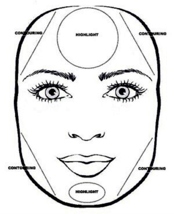 Коррекция квадратного лица фото