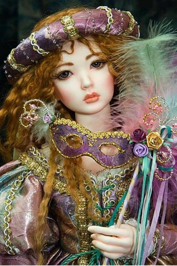 Кукла из полимерной глины фото