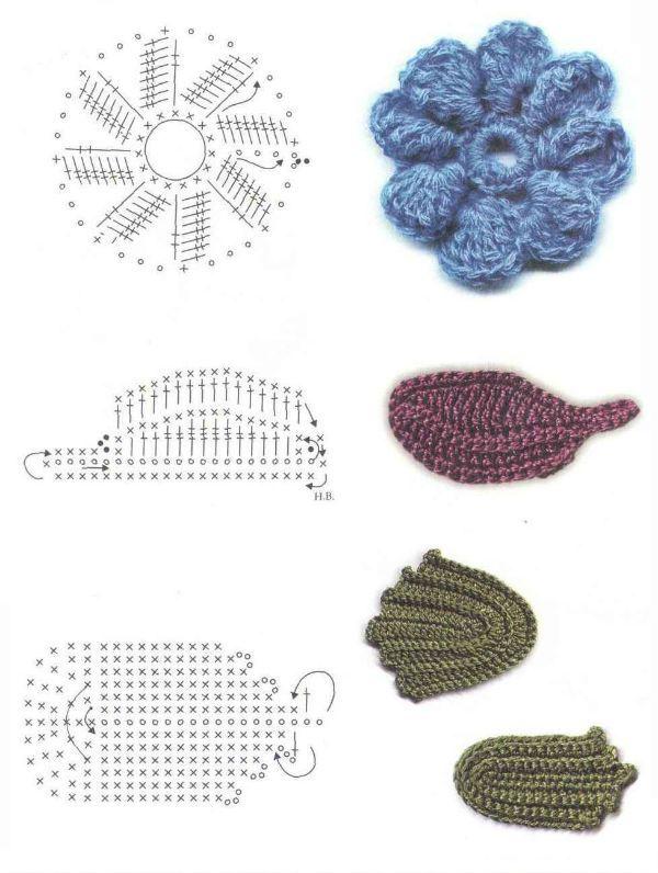Мотив цветов и листьев фото