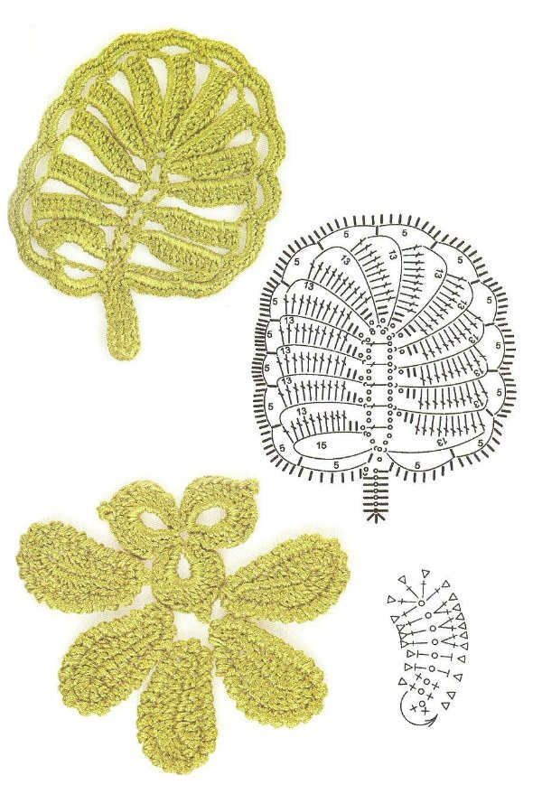 Мотив листочков фото