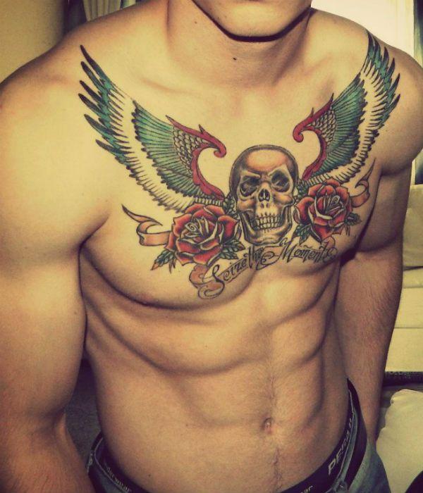 Мужская татуировка на груди фото
