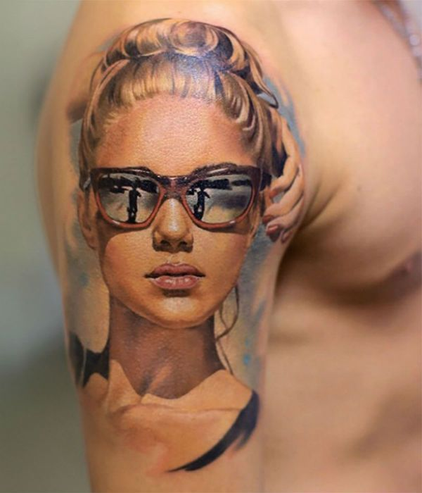 Мужские татуировки на плече фото