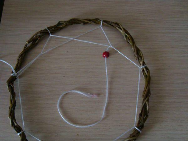Плетение второго ряда по кругу фото
