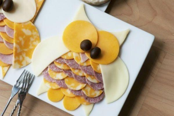 Раскладка колбасы и сыра для детей фото
