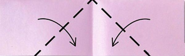 Сгибаем края к центру фото