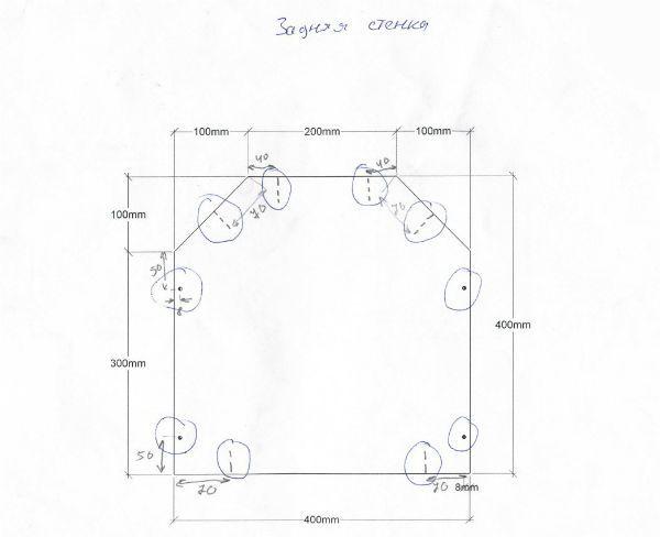 Схема тыльной стенки фото