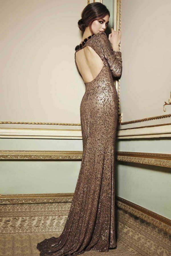 Длинные платья золотое фото