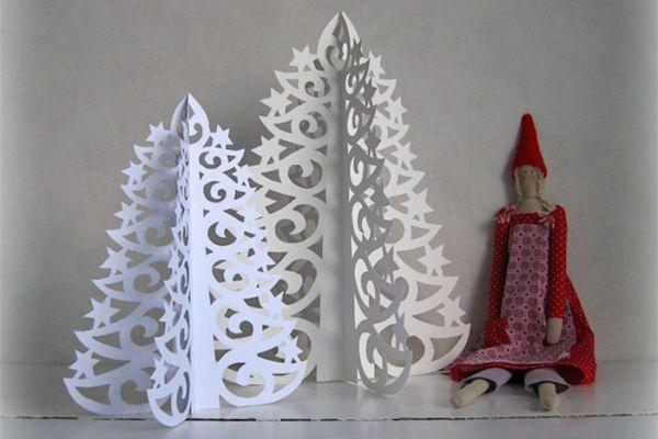 Елка киригами фото