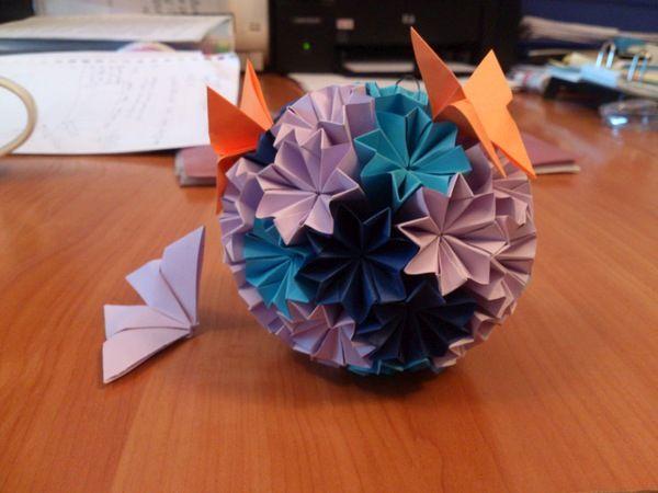Готовое оригами бабочка фото
