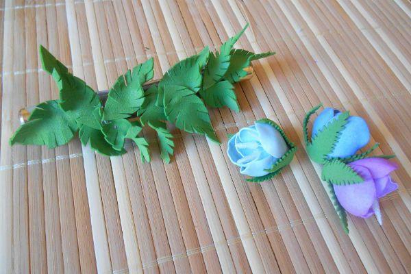 Клеем листья фото