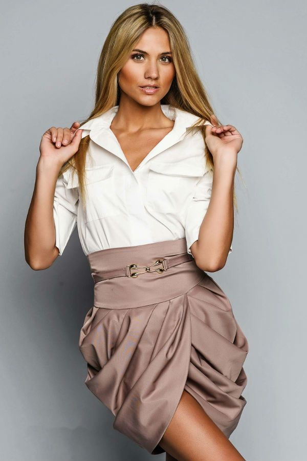 Короткая юбка тюльпан фото