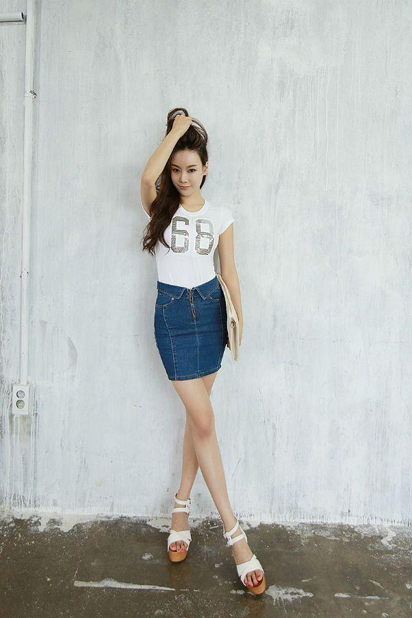 Короткая юбка в обтяжку фото