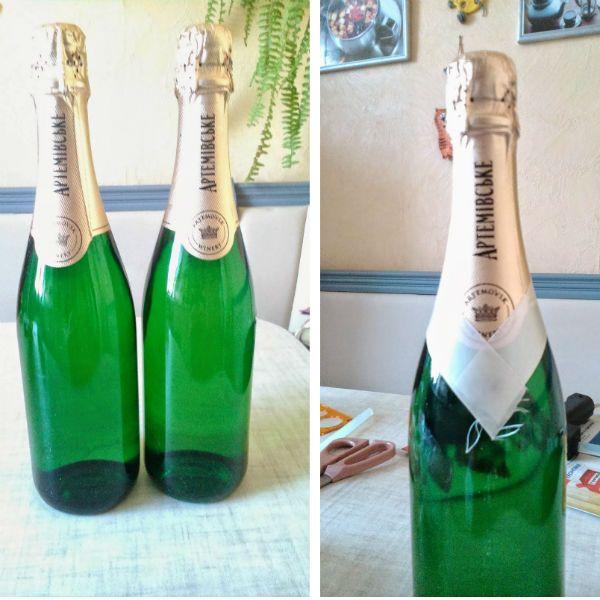 Очищаем бутылки фото