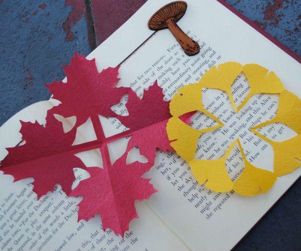 Пример киригами листья осенние фото