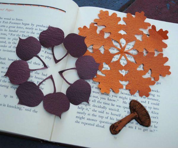 Пример киригами листья фото