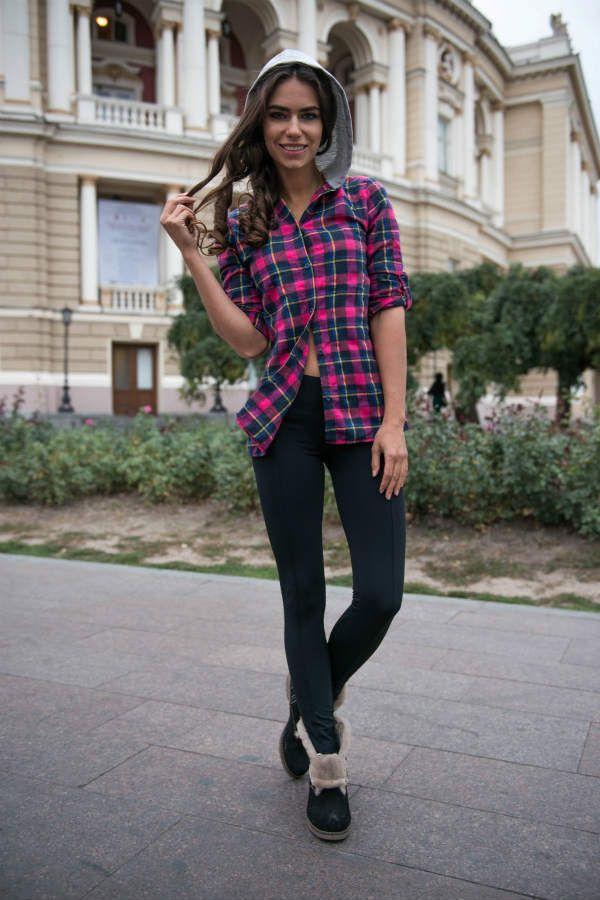 Рубашка и лосины фото