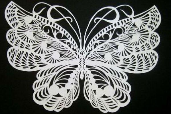 Шаблон бабочки фото