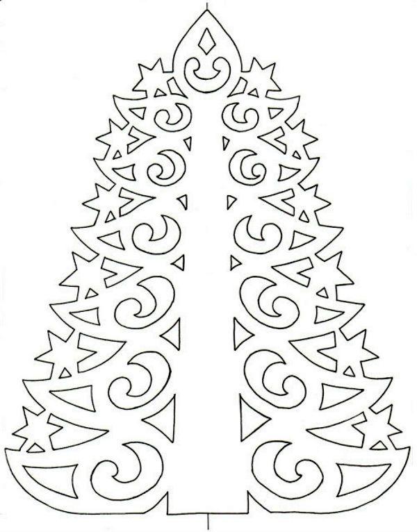 Шаблон елки фото