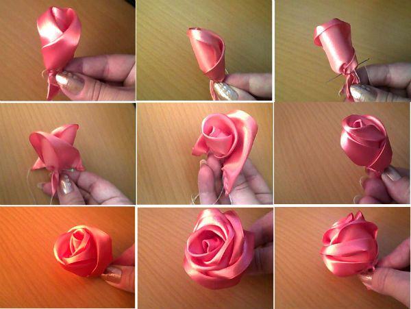 Сшитая роза фото
