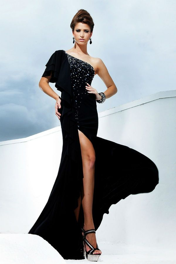 Вечернее платье асимметричное фото