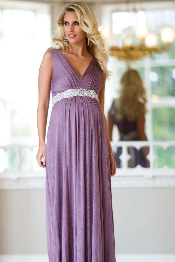 Вечернее платье для беременных  фото